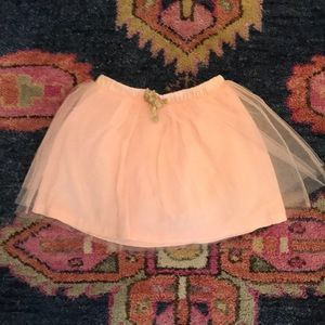 Crewcuts tulle peach skirt